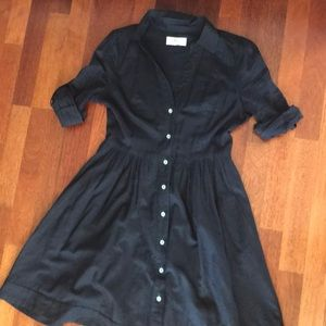 Perfect navy shirt dress from Anthropologie
